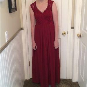 Dresses - Burgundy formal dress